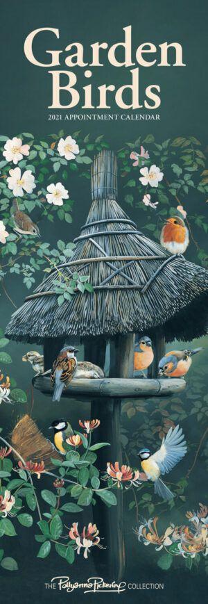 Garden Birds by Pollyana Slimline Kalender 2021