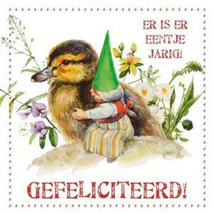 Kaart R. Poortvliet Kabouter Eentje Jarig!