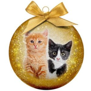 Kerstbal Frosted Classic Cats