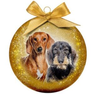 Kerstbal Frosted Classic Dachshund