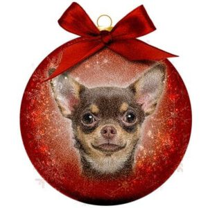 Kerstbal Frosted Classic Chihuahua