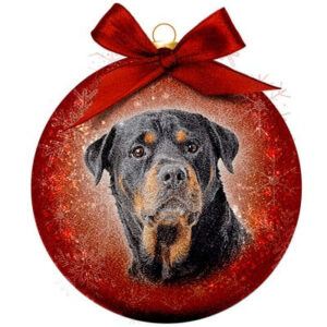 Kerstbal Frosted Classic  Rottweiler