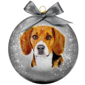 Kerstbal Frosted Classic Beagle