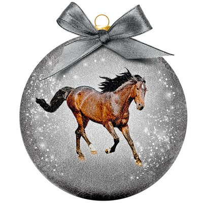 Kerstbal Frosted Classic Horse