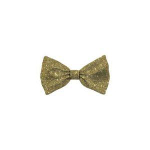 Bow Tie Glitter Gold Cat S