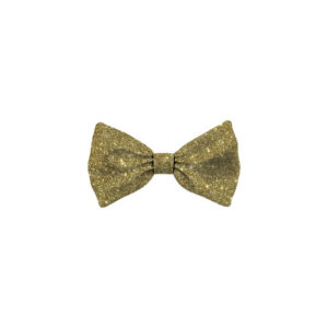 Bow Tie Glitter Gold Dog S