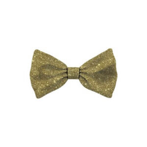 Bow Tie Glitter Gold Dog M