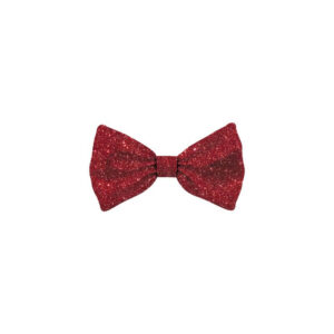 Bow Tie Glitter Red Dog S