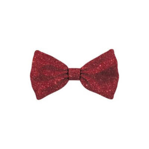 Bow Tie Glitter Red Dog M