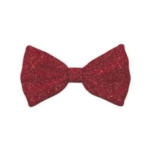 Bow Tie Glitter Red Dog L