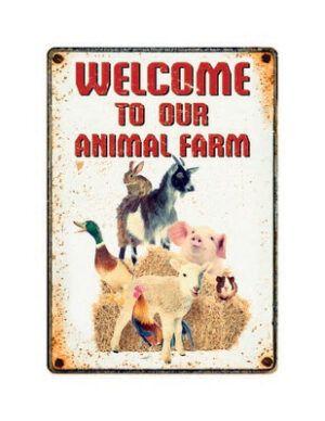 Bord Blik Farm Welcome