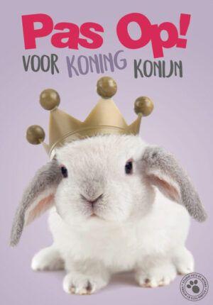 Waakbord Studio Pets Koning Konijn