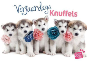Kaart Myrna NL Verj Knuffels Husky Pups (h)