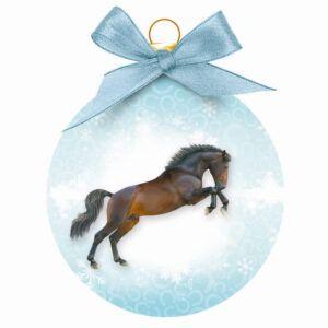 Kerstbal Paard Springend