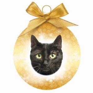 Kerstbal Zwarte Kat