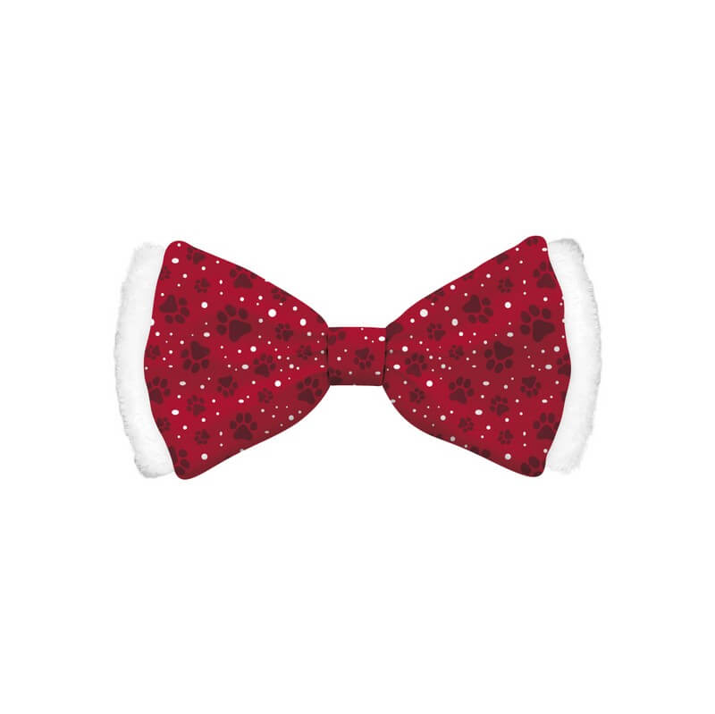 Bow Tie Satin Red Dog M