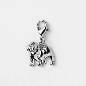Pet Charm Bulldog Silver