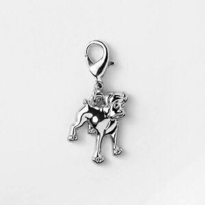 Pet Charm Boxer Silver