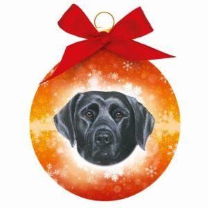 Kerstbal Labrador Zwart