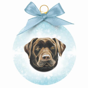 Kerstbal Labrador Chocolate