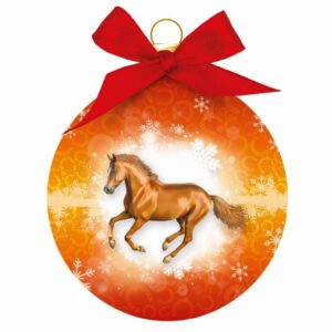 Kerstbal Paard Rennend