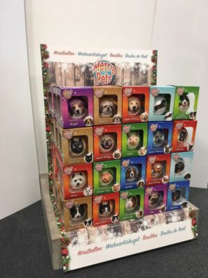 Display Kerstballen Toonbank